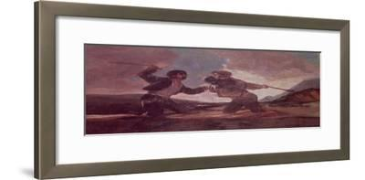 Duel with Clubs by Francisco de Goya