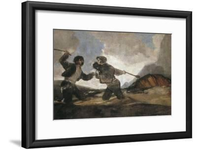 Duel with Cudgels by Francisco de Goya