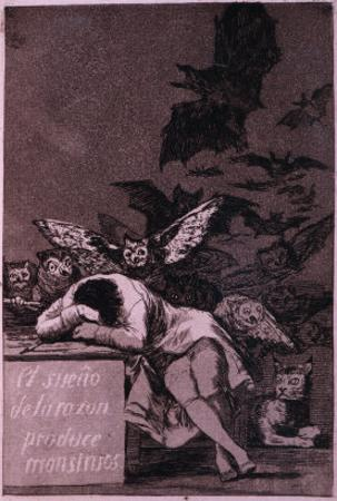 El Sueno De La Razon Produce Monstros by Francisco de Goya