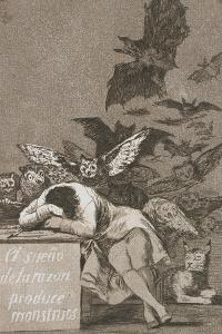 El Sueño De La Razón Produce Monstruos (The Sleep of Reason Produces Monsters) by Francisco de Goya