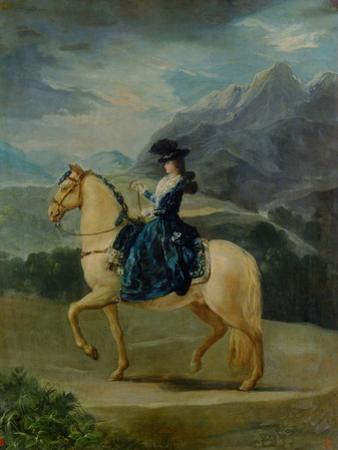 Equestrian Portrait of Maria Teresa De Vallabriga by Francisco de Goya