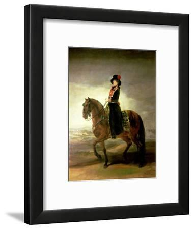 Equestrian Portrait of Queen Maria Luisa Wife of King Charles IV of Spain by Francisco de Goya