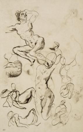 Feuille d'?des de nus by Francisco de Goya