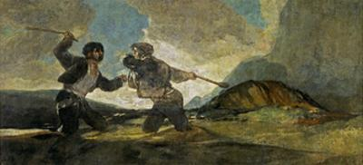 Fight with Cudgels by Francisco de Goya