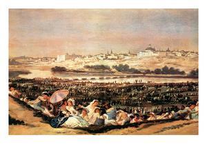 Folk Festival at the San Isidro-Day by Francisco de Goya