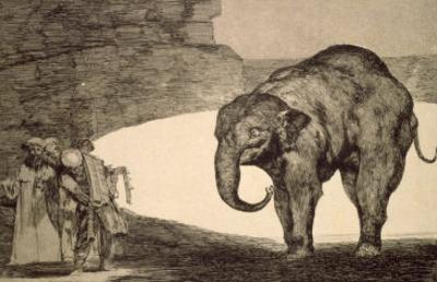 Folly of Beasts, from the Follies Series, or Other Laws for the People, circa 1815-24 by Francisco de Goya