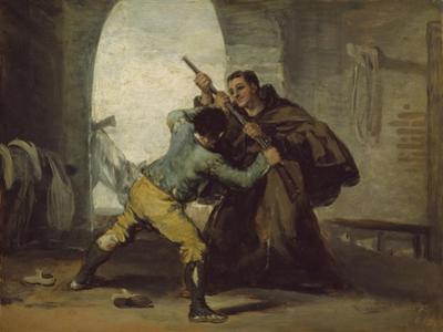 Friar Pedro Wrests the Gun from El Maragato, C.1806 by Francisco de Goya