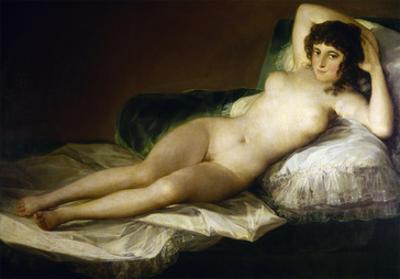 Goya: Nude Maja, C1797 by Francisco de Goya