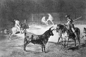 """Grabado. Serie """"Tauromaquia"""" Plancha 27, El Célebre Fernando del Toro by Francisco de Goya"""