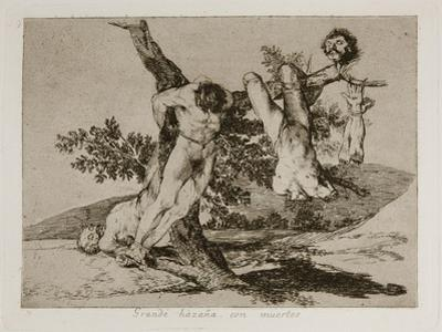Grande Hazaña! Con Muertos! (A Heroic Feat! with Dead Men) Plate 39 from the Disasters of War (Los by Francisco de Goya