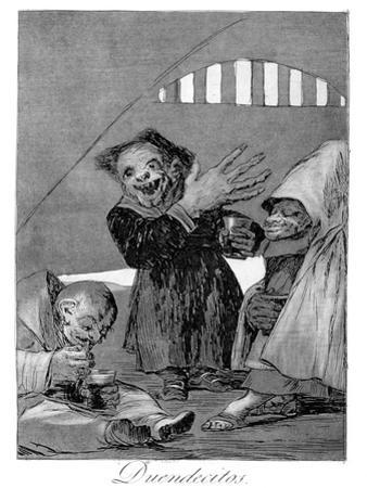 Hobgoblins, 1799 by Francisco de Goya