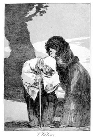 Hush, 1799 by Francisco de Goya