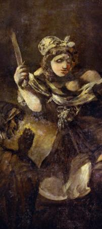 Judith and Holofernes, A Black Painting from the Quinta Del Sordo, Goya's Hourse, 1819-1823 by Francisco de Goya