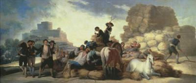 La Era O El Verano, the Threshing Floor or Summer, Tapestry Cartoon, 1786 by Francisco de Goya