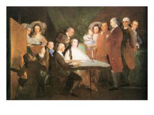 La Famille De L Infant Don Louis by Francisco de Goya