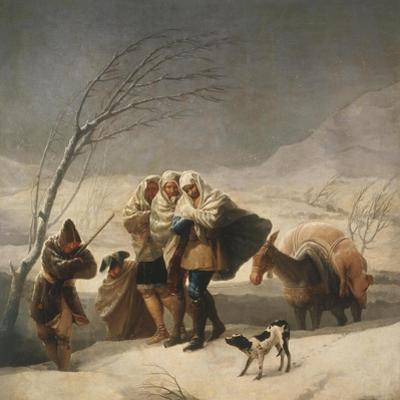 La Nevada or El Invierno, the Snowfall or Winter, 1786-7 by Francisco de Goya