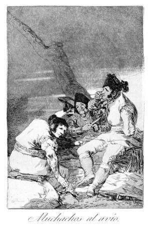 Lads Making Ready, 1799 by Francisco de Goya