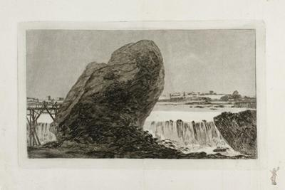 Landscape with Waterfall, before 1810 by Francisco de Goya