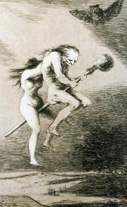 Linda Maestra, Gentle Mistress, Etching No. 68 from the Caprichos, Around 1798 by Francisco de Goya