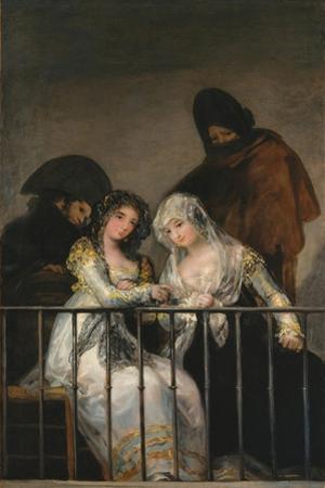 Majas on a Balcony, c.1800-10 by Francisco de Goya