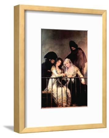 Majas on a Balcony by Francisco de Goya
