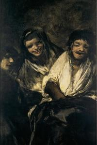 Man Mocked by Two Women (Women Laughing or the Ministratio) by Francisco de Goya
