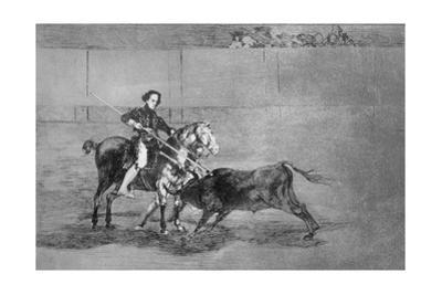 Manly Courage of the Celebrated Nicolasa Escamilla (La Pajuelera) in the Ring at Saragossa by Francisco de Goya