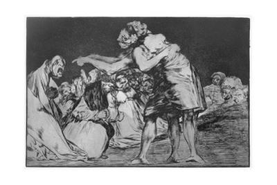 Matrimonial Nightmare, Plate 7 of 'Proverbs', 1819-23, Pub. 1864 by Francisco de Goya