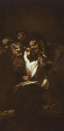 Men Reading by Francisco de Goya