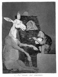 Neither More or Less, 1799 by Francisco de Goya