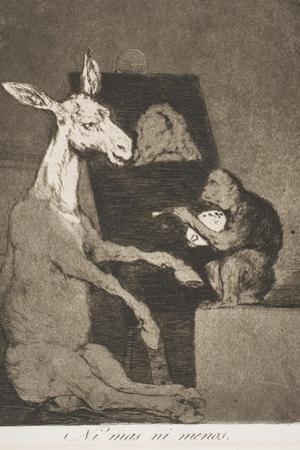 Ni Mas Ni Menos by Francisco de Goya