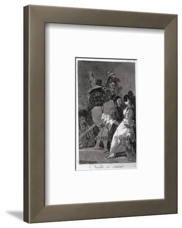 "Nobody Knows Himself, Plate 6 of ""Los Caprichos,"" Published 1799 by Francisco de Goya"