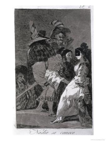 "Nobody Knows Himself, Plate 6 of ""Los Caprichos,"" Published 1799 by Francisco de Goya"