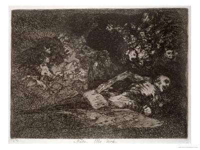 Nothing, the Event Will Tell, Plate 69 of The Disasters of War, 1810-14, c.1863 by Francisco de Goya