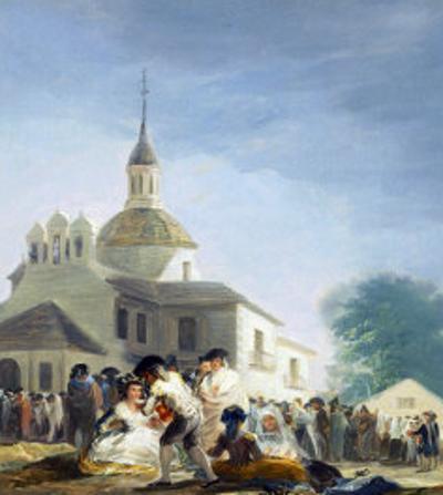 Pilgrims Before the Capel of Saint Isidore La Ermita De San Isidro El Dia De La Fiesta 1788 by Francisco de Goya