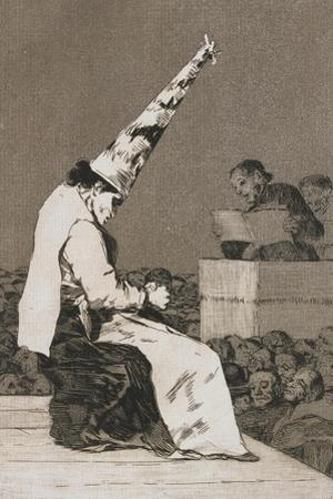 Plate from Los Caprichos, 1797-1798 by Francisco de Goya