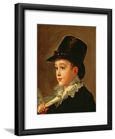 Portrait of Marianito Goya, Grandson of the Artist, C.1815 (Detail)