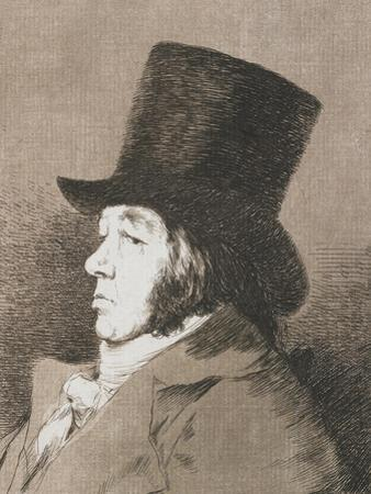 Pportrait of Goya, Copy of Plate I of Los Caprichos (1793-98) by Francisco de Goya