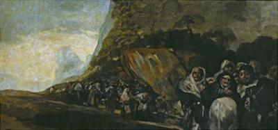 Procession of the Holy Office by Francisco de Goya