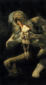 Saturn Devouring His Son. 1820-1823 by Francisco de Goya