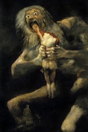 Saturn Devouring His Son. 1820-1823 by Francisco de Goya