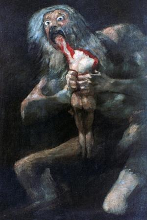 Saturn Devouring One of His Children, 1821-1823 by Francisco de Goya