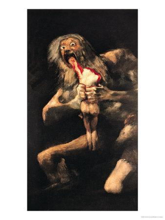 Saturn Devouring One of His Children, 1821-23