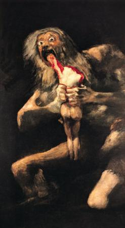 Saturn Devouring One of His Children, 1821-23 by Francisco de Goya