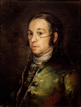 Self-Portrait with Glasses by Francisco de Goya