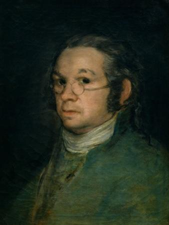 Self Portrait with Spectacles, circa 1800 by Francisco de Goya