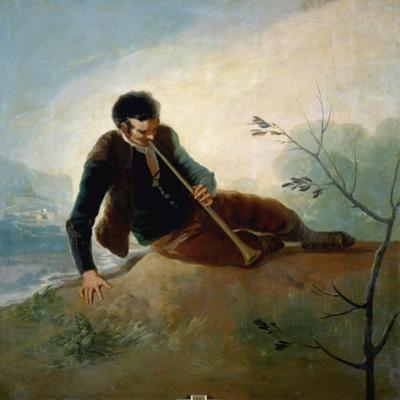 Shepherd Playing a Pipe, 1786-7 by Francisco de Goya
