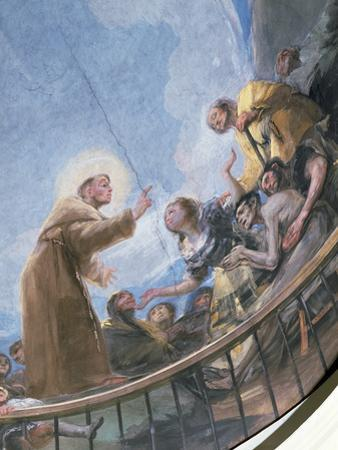 St. Anthony Preaching, Detail from the Miracle of St. Anthony of Padua, from the Cupola, 1798 by Francisco de Goya
