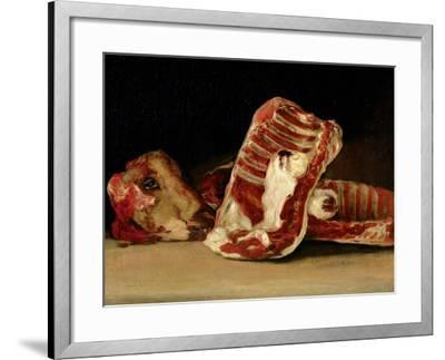 Still Life of Sheep's Ribs and Head - the Butcher's Conter