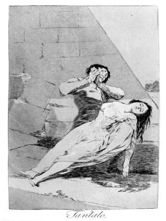 Tantalas, 1799 by Francisco de Goya